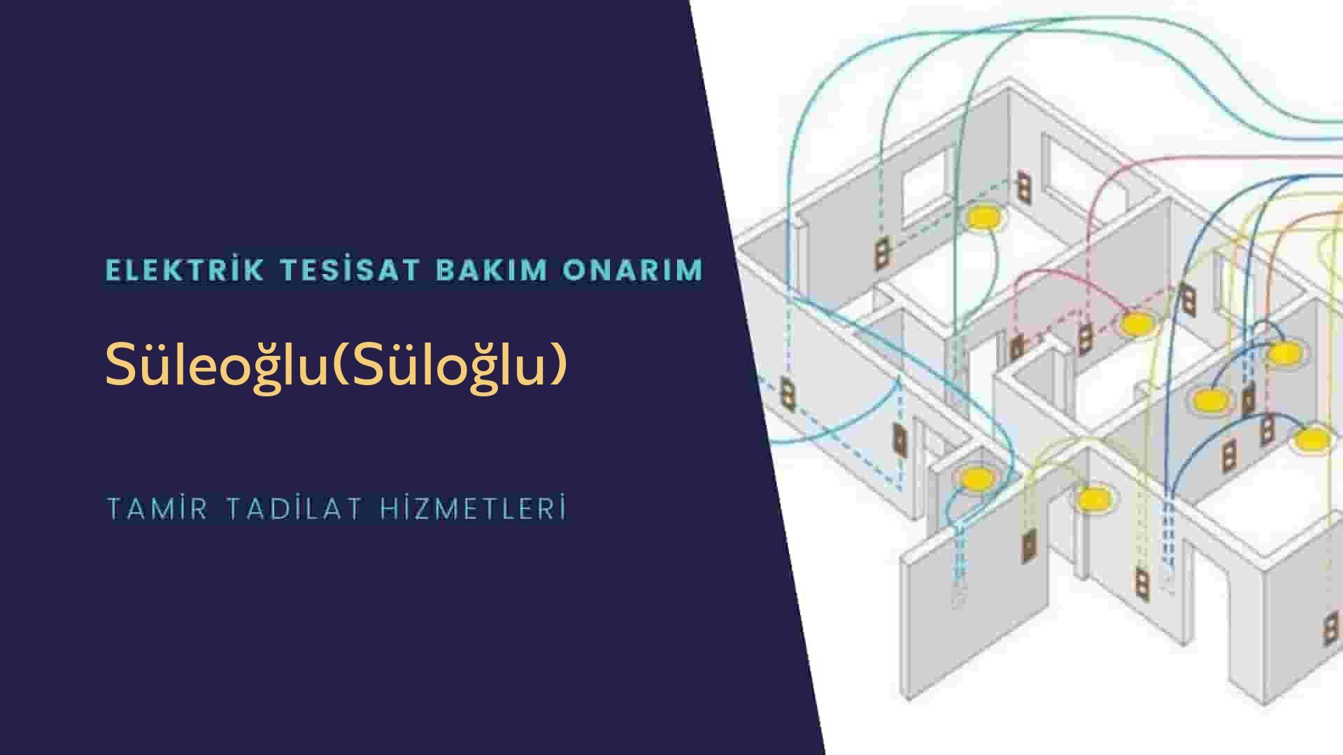 Süleoğlu(Süloğlu)  elektrik tesisatıustalarımı arıyorsunuz doğru adrestenizi Süleoğlu(Süloğlu) elektrik tesisatı ustalarımız 7/24 sizlere hizmet vermekten mutluluk duyar.