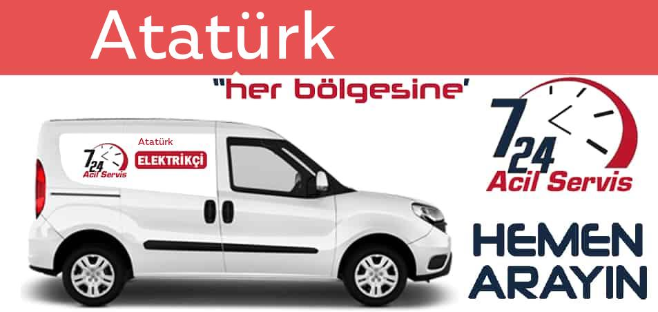 Atatürk  elektrikçi 7/24 acil elektrikçi hizmetleri sunmaktadır. Atatürk de nöbetçi elektrikçi ve en yakın elektrikçi arıyorsanız arayın ustamız gelsin.