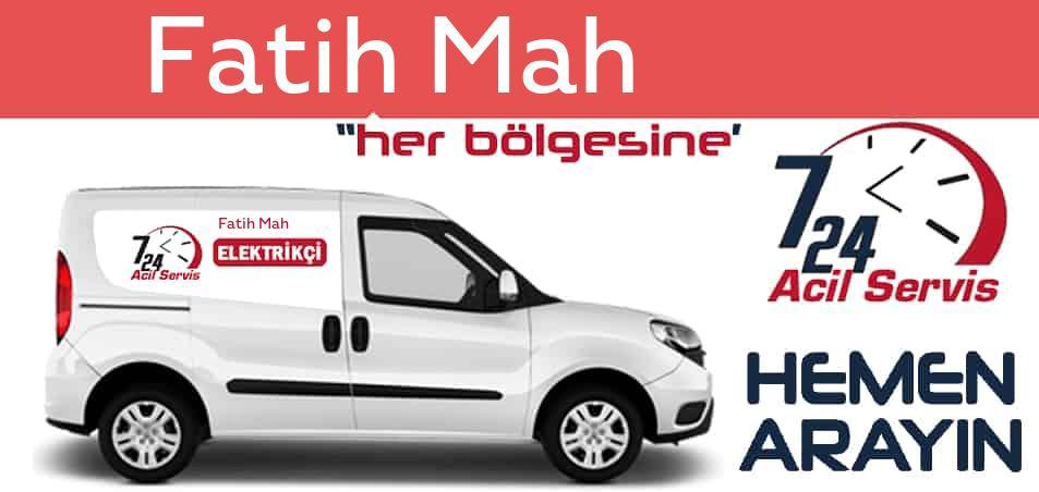 Fatih Mah elektrikçi 7/24 acil elektrikçi hizmetleri sunmaktadır. Fatih Mahde nöbetçi elektrikçi ve en yakın elektrikçi arıyorsanız arayın ustamız gelsin.