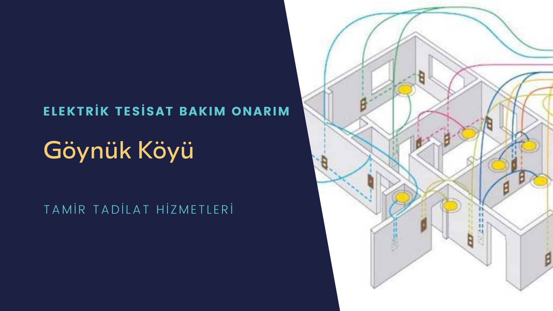 Göynük Köyü  elektrik tesisatıustalarımı arıyorsunuz doğru adrestenizi Göynük Köyü elektrik tesisatı ustalarımız 7/24 sizlere hizmet vermekten mutluluk duyar.