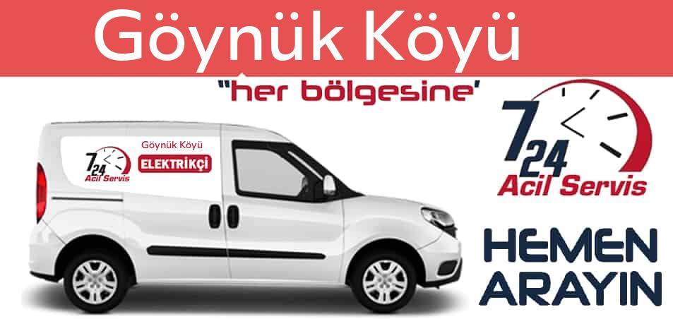 Göynük Köyü elektrikçi 7/24 acil elektrikçi hizmetleri sunmaktadır. Göynük Köyüde nöbetçi elektrikçi ve en yakın elektrikçi arıyorsanız arayın ustamız gelsin.