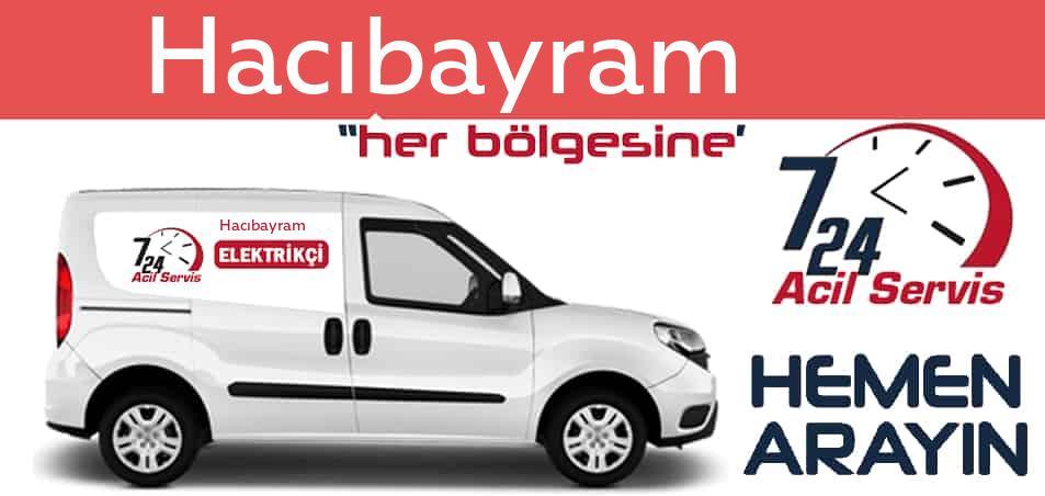 Hacıbayram  elektrikçi 7/24 acil elektrikçi hizmetleri sunmaktadır. Hacıbayram de nöbetçi elektrikçi ve en yakın elektrikçi arıyorsanız arayın ustamız gelsin.