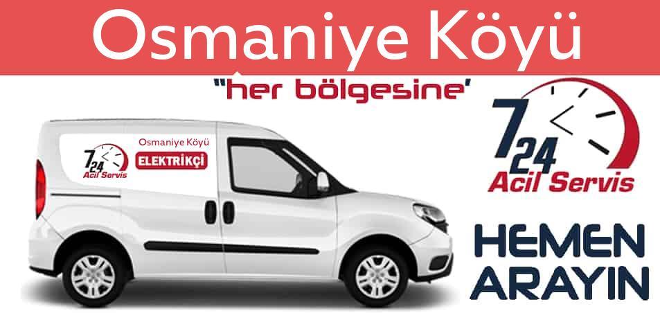 Osmaniye Köyü elektrikçi 7/24 acil elektrikçi hizmetleri sunmaktadır. Osmaniye Köyüde nöbetçi elektrikçi ve en yakın elektrikçi arıyorsanız arayın ustamız gelsin.