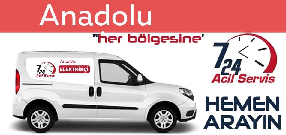 Anadolu elektrikçi 7/24 acil elektrikçi hizmetleri sunmaktadır. Anadolude nöbetçi elektrikçi ve en yakın elektrikçi arıyorsanız arayın ustamız gelsin.