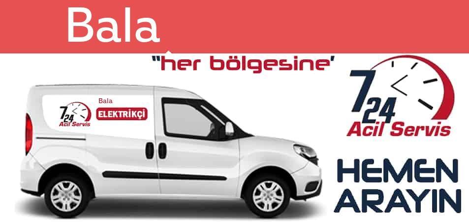 Bala elektrikçi 7/24 acil elektrikçi hizmetleri sunmaktadır. Balade nöbetçi elektrikçi ve en yakın elektrikçi arıyorsanız arayın ustamız gelsin.