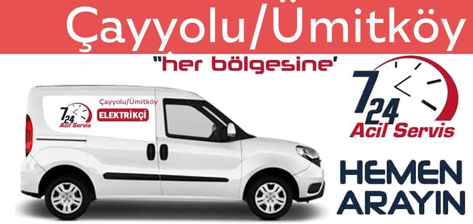 Çayyolu/Ümitköy elektrikçi 7/24 acil elektrikçi hizmetleri sunmaktadır. Çayyolu/Ümitköyde nöbetçi elektrikçi ve en yakın elektrikçi arıyorsanız arayın ustamız gelsin.