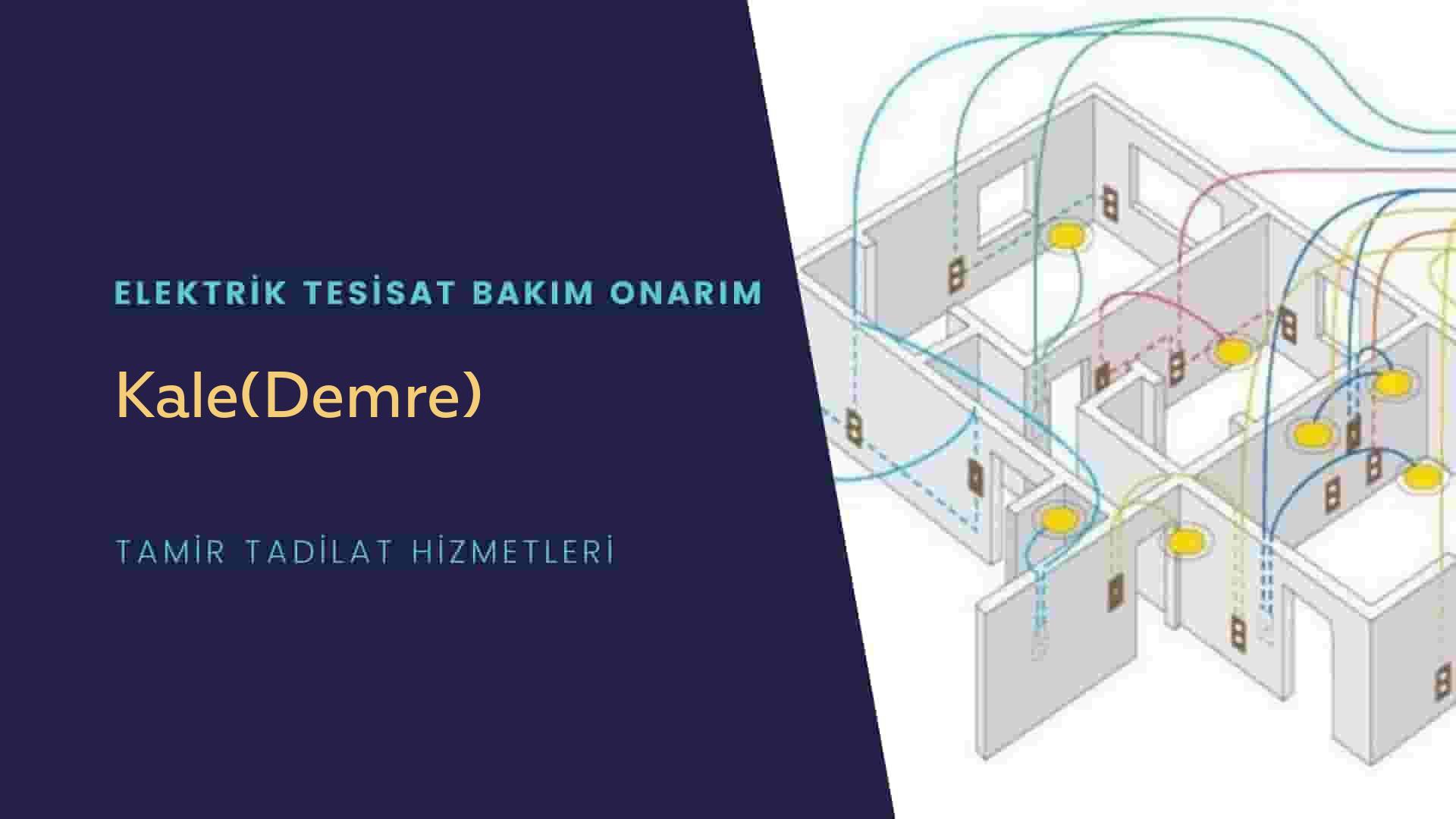 Kale(Demre)  elektrik tesisatıustalarımı arıyorsunuz doğru adrestenizi Kale(Demre) elektrik tesisatı ustalarımız 7/24 sizlere hizmet vermekten mutluluk duyar.