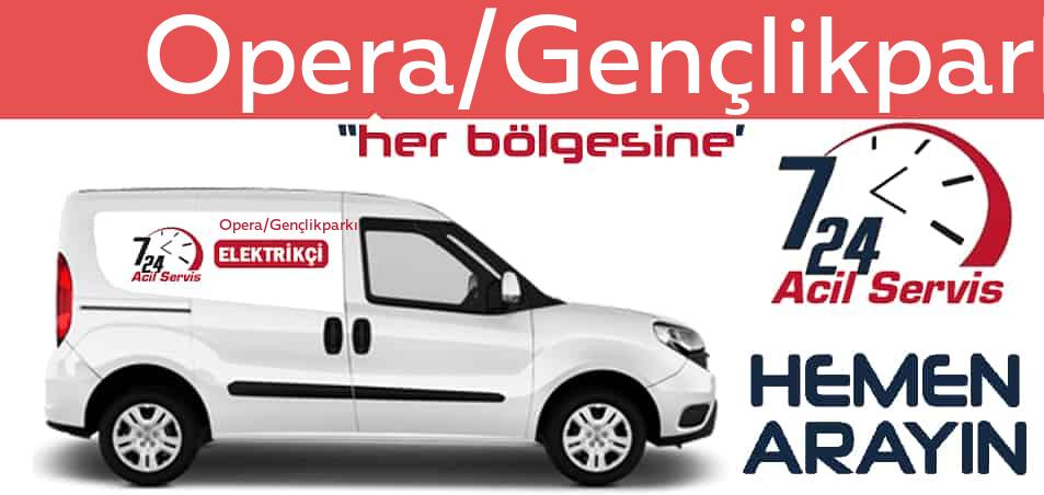 Opera/Gençlikparkı elektrikçi 7/24 acil elektrikçi hizmetleri sunmaktadır. Opera/Gençlikparkıde nöbetçi elektrikçi ve en yakın elektrikçi arıyorsanız arayın ustamız gelsin.